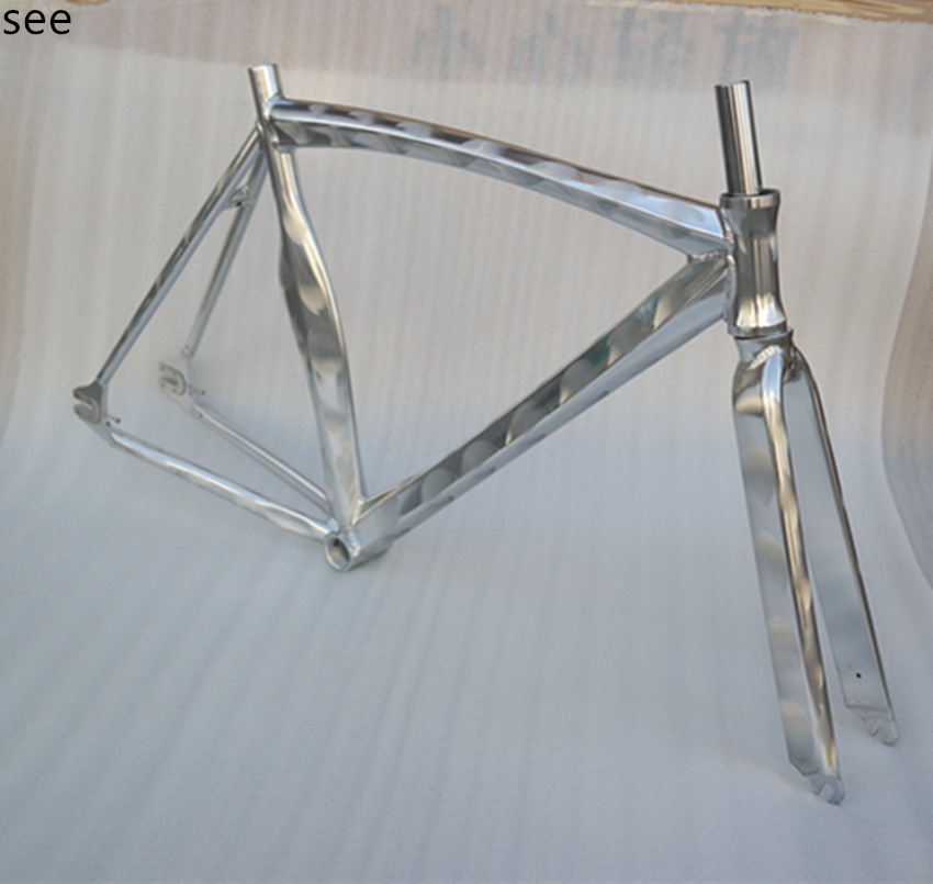 aliexpresscom buy fixed gear bike bicycle frame aluminum alloy frame with frame fork bicycle parts accesories racing machete hexagram frame from