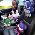 Four seasons general cute cartoon crazy rabbit city car headrest neck pillow 3 d thermal transfer custom creative gift
