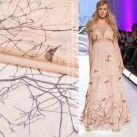 Silk chiffon fabrics 100% silk top grade clothing fabric and put bare pink dress shirt fabric