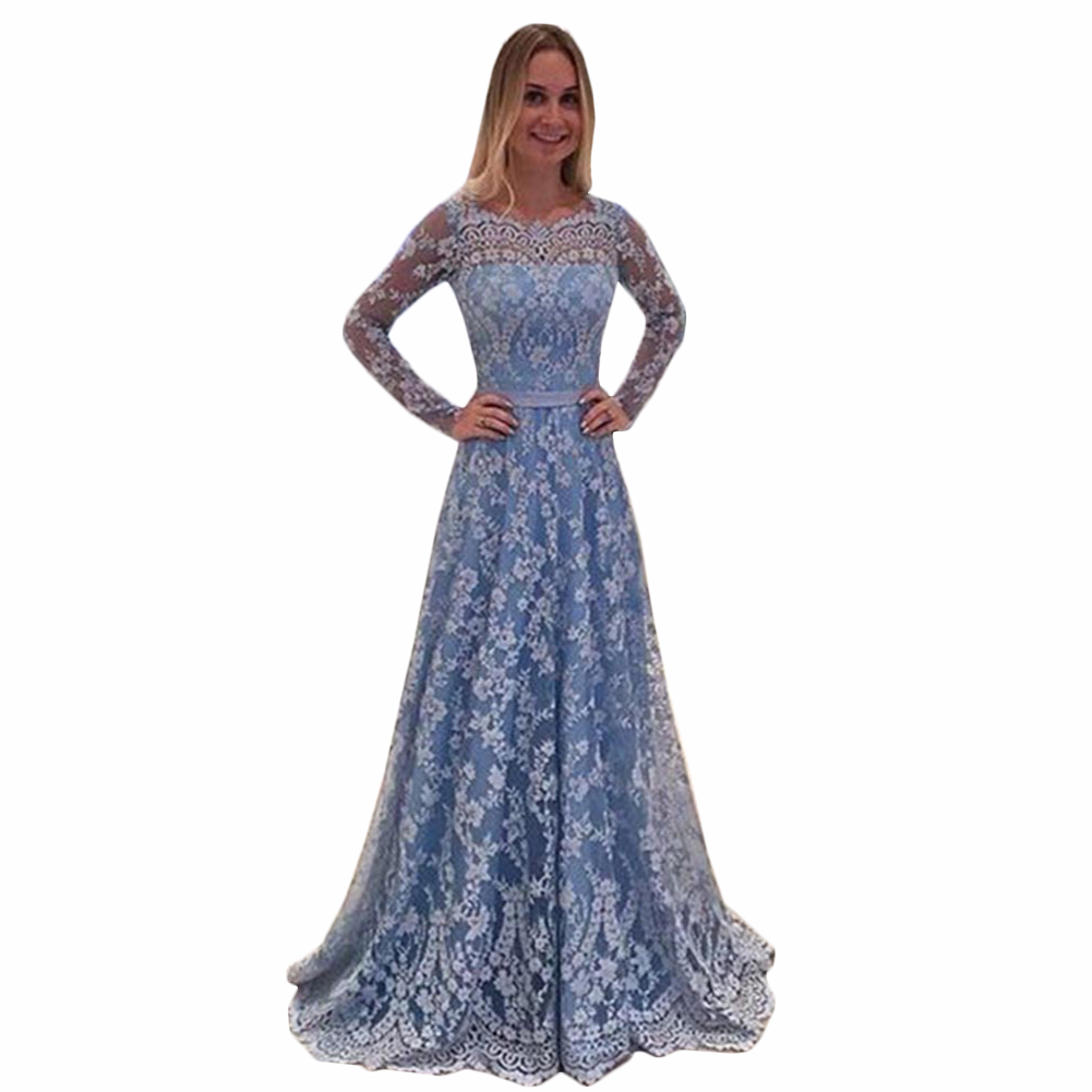 2018 Fashion Long Womens Maternity Lace Evening Photography Dress Party Ball Gown Prom See through Dress
