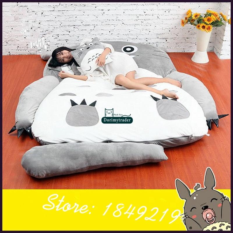Dorimytrader Hot Fashion Anime Totoro Slaapzak Grote Pluche Tapijt Matras Bed Sofa Met Katoen Kids Present Dy61067