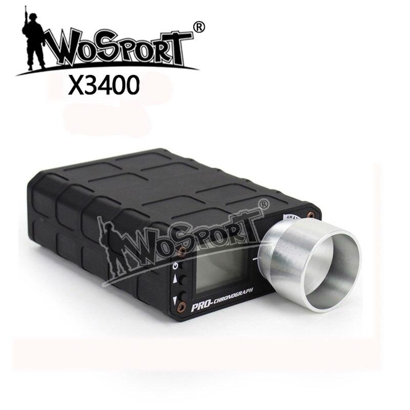 Testeur de vitesse chronographe tactique Airsoft X3400 pour la chasse au pistolet BB