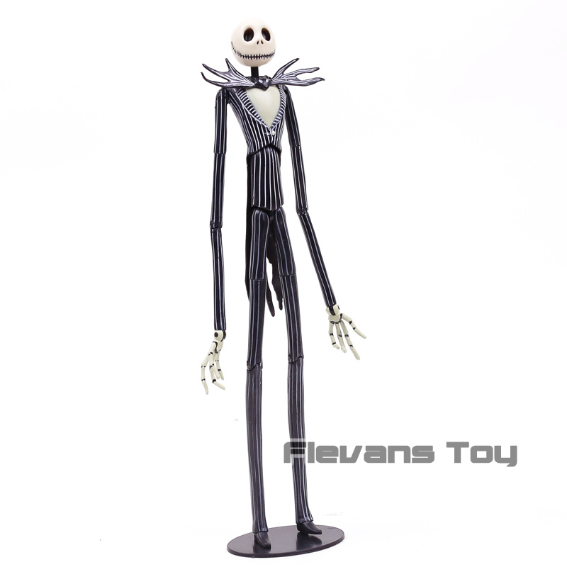 The Nightmare Before Christmas Jack Skellington with Interchangeable Heads PVC Action Figure Toy Doll Kids Gift