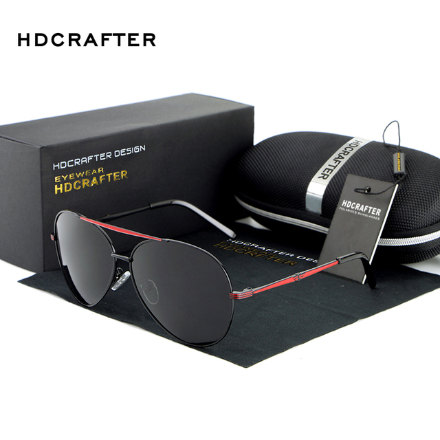 2017 HDCRAFTER Classic Design Polarized Sunglasses Men with UV400 Protection Brand in High Quality oculos de sol Drop Shipping