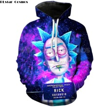 PLstar Cosmos 2018 Fashion Brand 3d hoodies cartoon rick and morty print Women/Men Hoody Streetwear casual hooded sweatshirts