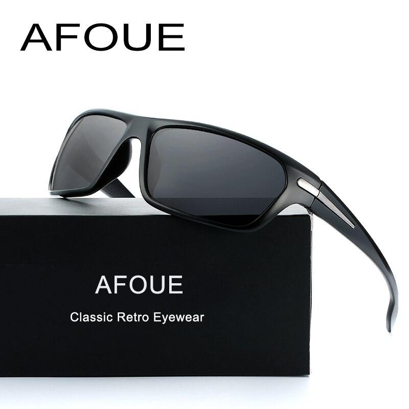 AFOUE Marque Nouvelles lunettes de Soleil Polarisées Hommes Mode Mâle Lunettes Soleil Lunettes Voyage Polaroid Lentille Lunettes Oculos Gafas De Sol