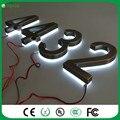 Chegada de novo! personalizado 3d sinais iluminado levou os números das casas de aço inoxidável Atacado