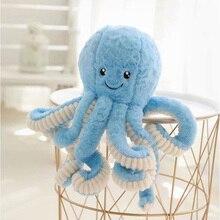 Настоящая жизнь, плюшевые животные, 18 см., милый осьминог, плюшевая игрушка, морская Мягкая кукла для малышей, детей, любимых, креативная детская кровать, Декор
