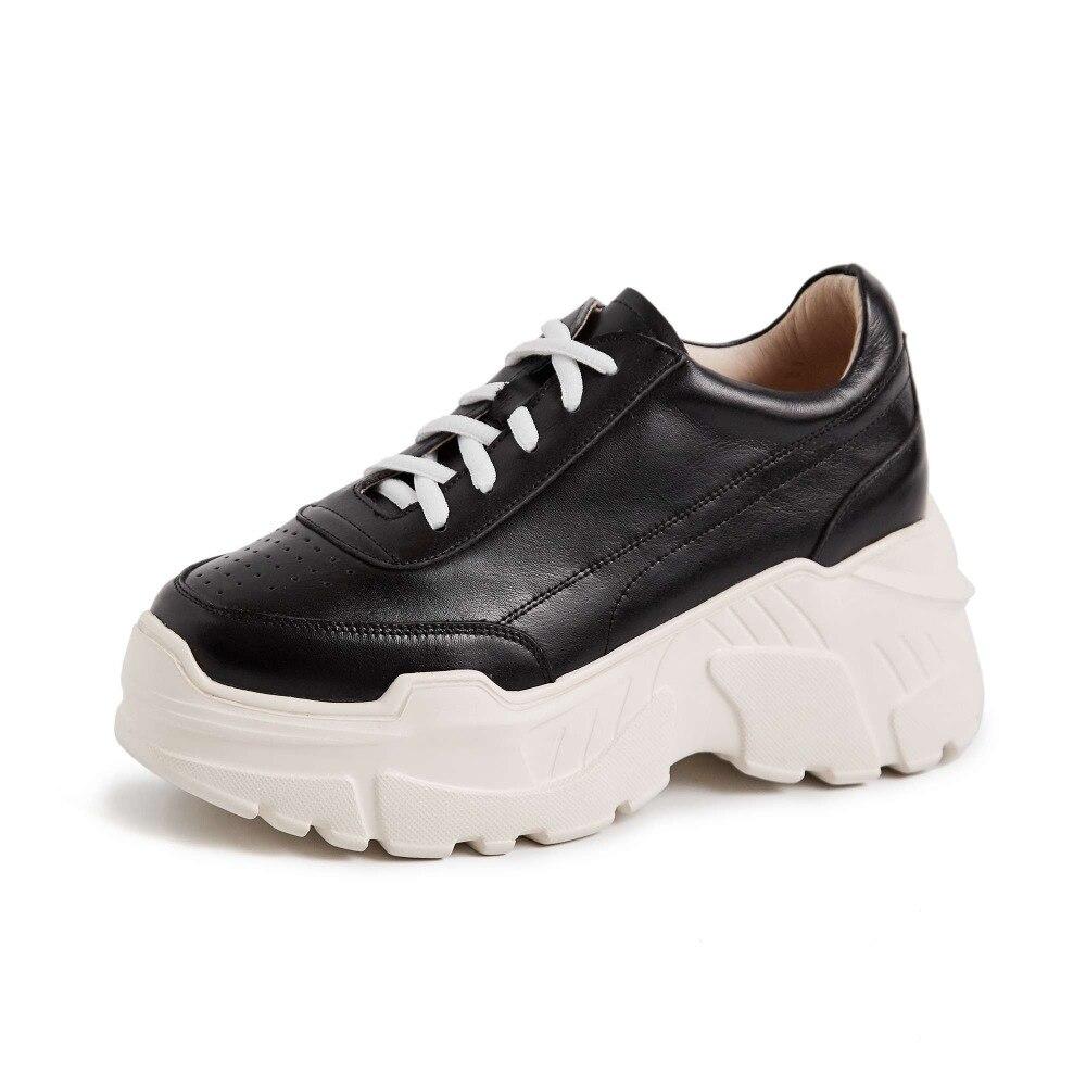 Bien Alta Diario blanco Inferior Ventilado Encaje De Completo Desgaste Cuero Negro Blanco Vulcanizados Zapatos Fondo Limítate L75 Grano Moda rrf8wABq