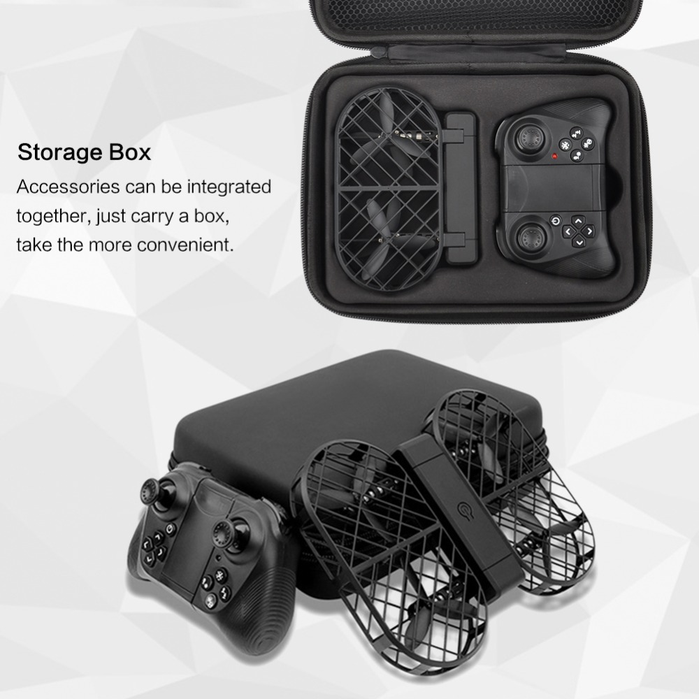 D7 Black Crea 720P WIFI Camera Remote Control Foldable With Altitude Hold RC Quadcopter With Carry Box With LED Light