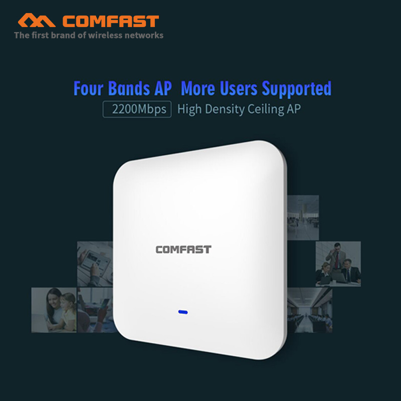 High speed 2200Mbp Gigabit Dual band wifi Router WAVE2 Wireless Ceiling WiFi AP Access Point Repeater Open ddwrt Wi fi Access AP