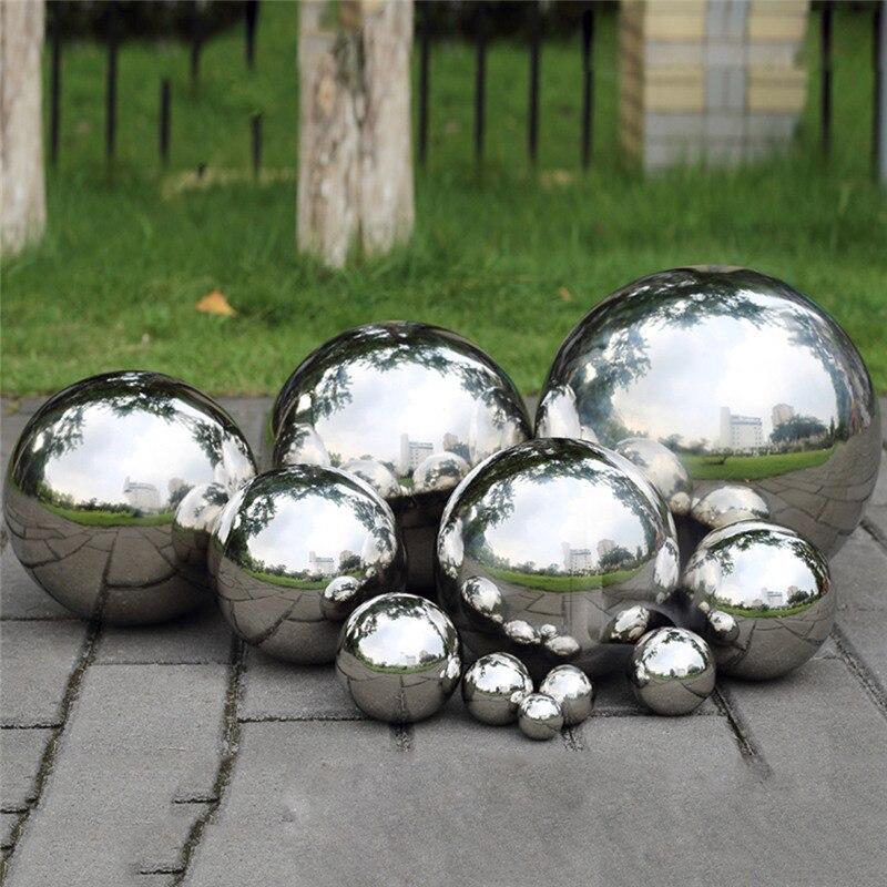 Boule creuse de miroir de sphère de miroir d'acier inoxydable appropriée aux centres commerciaux maison décoration de jardin fournit l'ornement 120 ~ 300mm