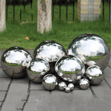 Stainless Steel Mirror Sphere Mirror Hollow Ball Suitable for Shopping Malls Home Garden Decoration Supplies Ornament 120~300mm