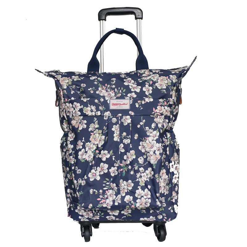 Wholesale!Women fashion floral travel duffle on universal wheels,high quality large capacity travel bags,eu fashion style bag fashion style