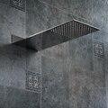 Бакала квадратная нержавеющая сталь насадка для душа дождевая насадка для душа хром высокое давление chuveiro смеситель для ванны Бесплатная д...
