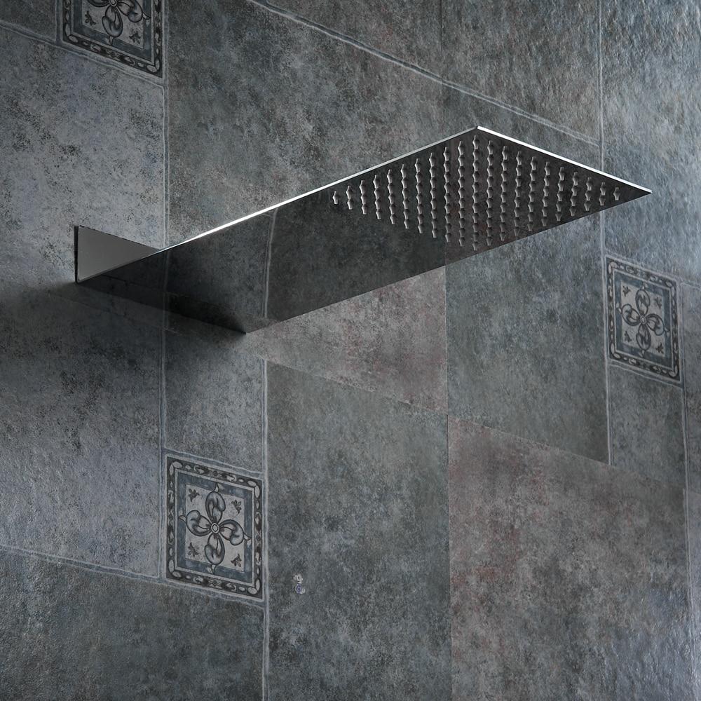 BAKALA สแควร์ Showerhead สแตนเลสหัวฝักบัว Rain Shower Chrome ความดันสูง chuveiro ก๊อกน้ำฟรี Freight
