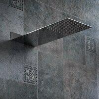 BAKALA Square Stainless Steel Showerhead Rainfall Shower Head Rain Shower Chrome high pressure chuveiro bath faucet Free freight
