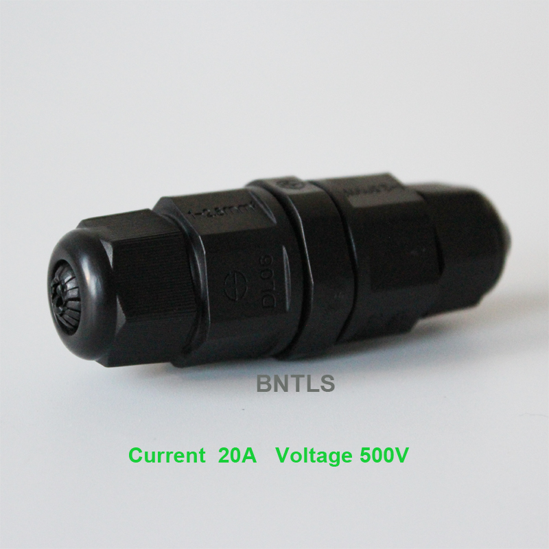 IP65 15A 2 3 Pin Waterproof Connector Adapter Screw Locking Cable connector water proof Industrial Electrical Wire Connector