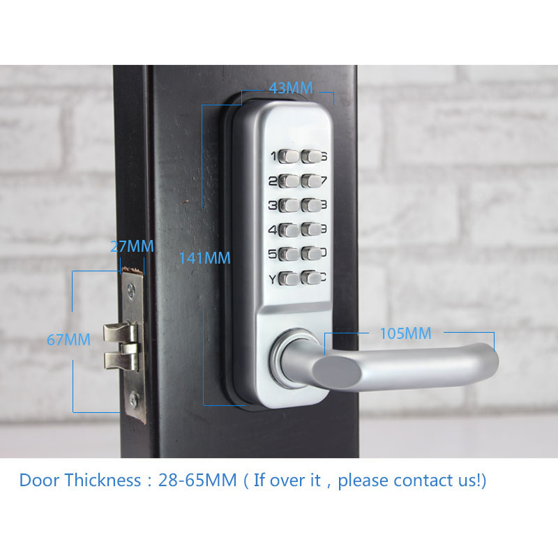 mechanical door locks keyless digital machinery code keypad password entry door lock lu0026s