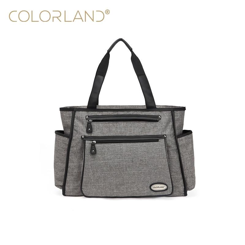 Colorland Black White Stripes Baby Diaper Bag Organizer Fashion Mummy Maternity Bag Travel Messenger Changing Nappy Bags Handbag все цены