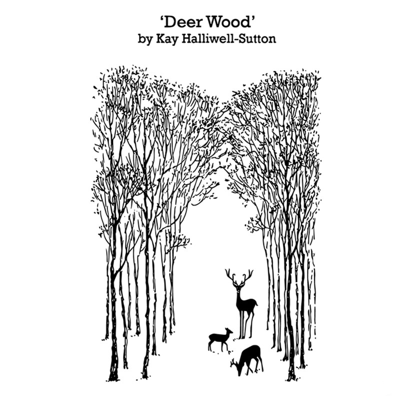 AZSG Deer Wood Clear Stamps for DIY Scrapbooking Photo Album Decoretive Card Making Embossing Stencial  11*16cm