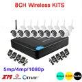 5mp/4mp/1080 p Sei Array Infrarossi ICsee APP Impermeabile Audio H.265 + 25fps 8CH 8 Canali WIFI wireless IP Camera kit Spedizione Gratuita