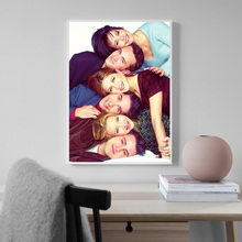 Monica Chandler Joey Ross Phoebe And Rachel Friends Tv Show Art Canvas Poster Painting Oil Wall Picture Print Home Bedroom Decor