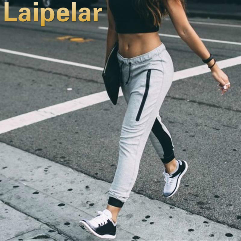 Laipelar 2018 Spring Fashion Casual Femme Hip Hop Dance Pants Elastic Waist Trousers Female Sweatpants in Pants amp Capris from Women 39 s Clothing