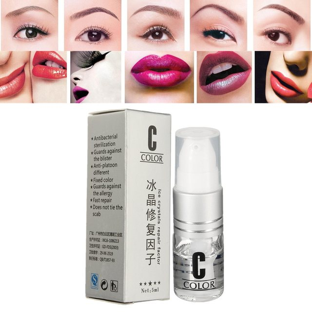 5ML Tattoo Scar Healing Cream Tattooing Recovery Ice Crystal Repair Factor Repairing Gel For Tebori Munsu Eyebrow Lip Aftercare
