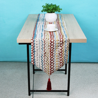 1PC Jacquard Stripes Tablecloth American Style Table Cloth Runner Party Wedding Decoration Dinner Table Cloth Cover