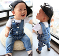 [Bosudhsou] Baby Kid Clothing Overalls Boy Clothes Jean Suspender Jean Trousers Children Clothing Boy Girl all Suit Bos.QT-6