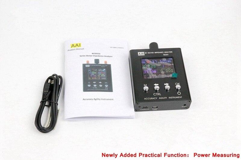 N2201SS UV RF Impedenza di Vettore ANT SWR Antenna Analyzer Tester del tester 137 MHz-2700 MHZ con Funzione di Misura di Potenza