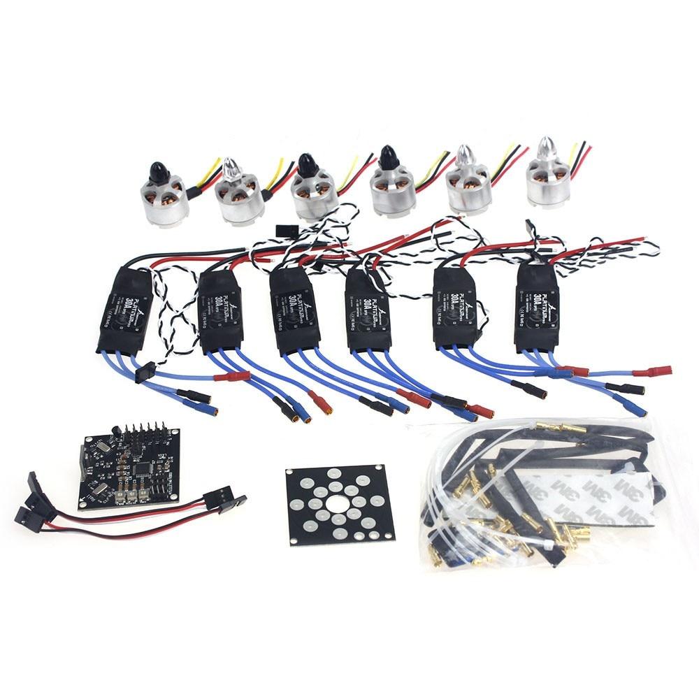 Electronic Accessories KKMulticopter V2.3 Circuit Board D2212 920KV Brushless Motor 30A ESC Propeller for UFO Heli F14711-E 30a esc welding plug brushless electric speed control 4v 16v voltage