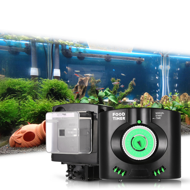 Aquarium Fish Tank Praktisk Automatisk Fish Feed Timer Installere Feeding Electronic Aquarium Food Delivery Supply Dispenser