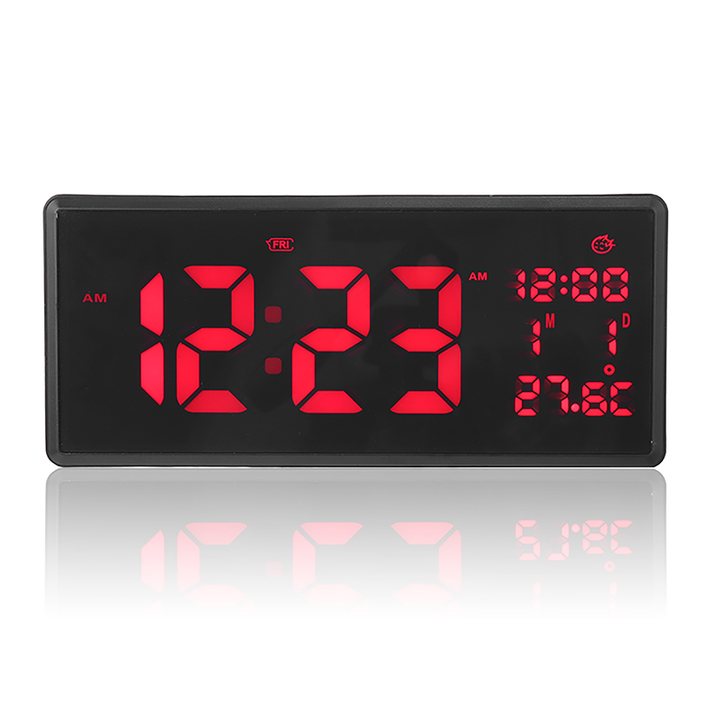 21.7*9.6Cm Digital Wall Clock Time Calendar Temperature Smart Large Led Clock Desk Table Wall Watch Home Decor Relogio De Parede
