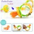 1 pc NEW Baby Chupeta Mordedor Frutas Frescas Alimentos Alimentador Nibbler Silicone Crianças Suprimentos Mamilo Chupeta Teta Garrafa 4 cores