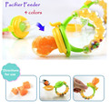 1pc NEW  Baby Pacifier Fresh Fruits Food Mordedor Silicone Nibbler Feeder Kids Supplies Nipple Teat Pacifier Bottle 4 colors