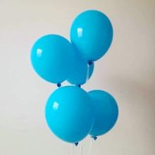 Blue balloons 50pcs/lot 10inch 2.2g latex inflatable ballon baby birthday party decorations balloon wedding ballon mariage цена