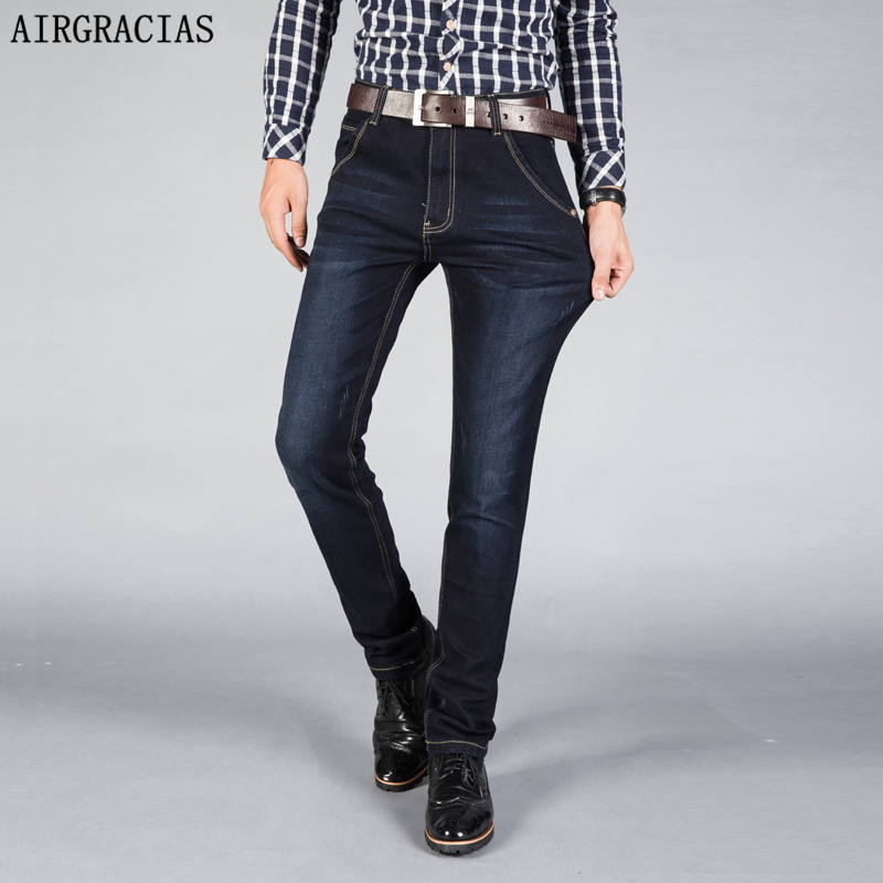 AIRGRACIAS Classic Men Jeans Spring Summer Straight Denim Jeans Men Size 28-42 Men Long Pants Trousers High Quality Biker Jean xmy3dwx n ew blue jeans men straight denim jeans trousers plus size 28 38 high quality cotton brand male leisure jean pants
