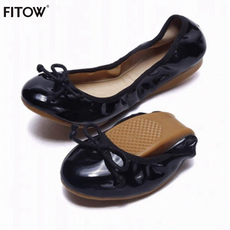 Women's Comfortable Fold Ballet Flats 13 Color Foldable Breathable Round Toe Ballerinas Flat Shoes with Size 34-42 for Women
