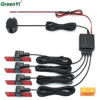 Car Parking Sensors Parktronics 4 Black/Silver/White 13mm Flat Sensors Reverse Backup Radar Sound Buzzer Alarm Adjustable Sound