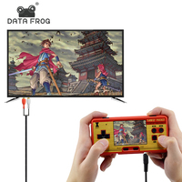 Data Frog Video Game Portable Handheld Console Built in 638 Games Retro Mini Game Best Gift For Child Support TV AV out