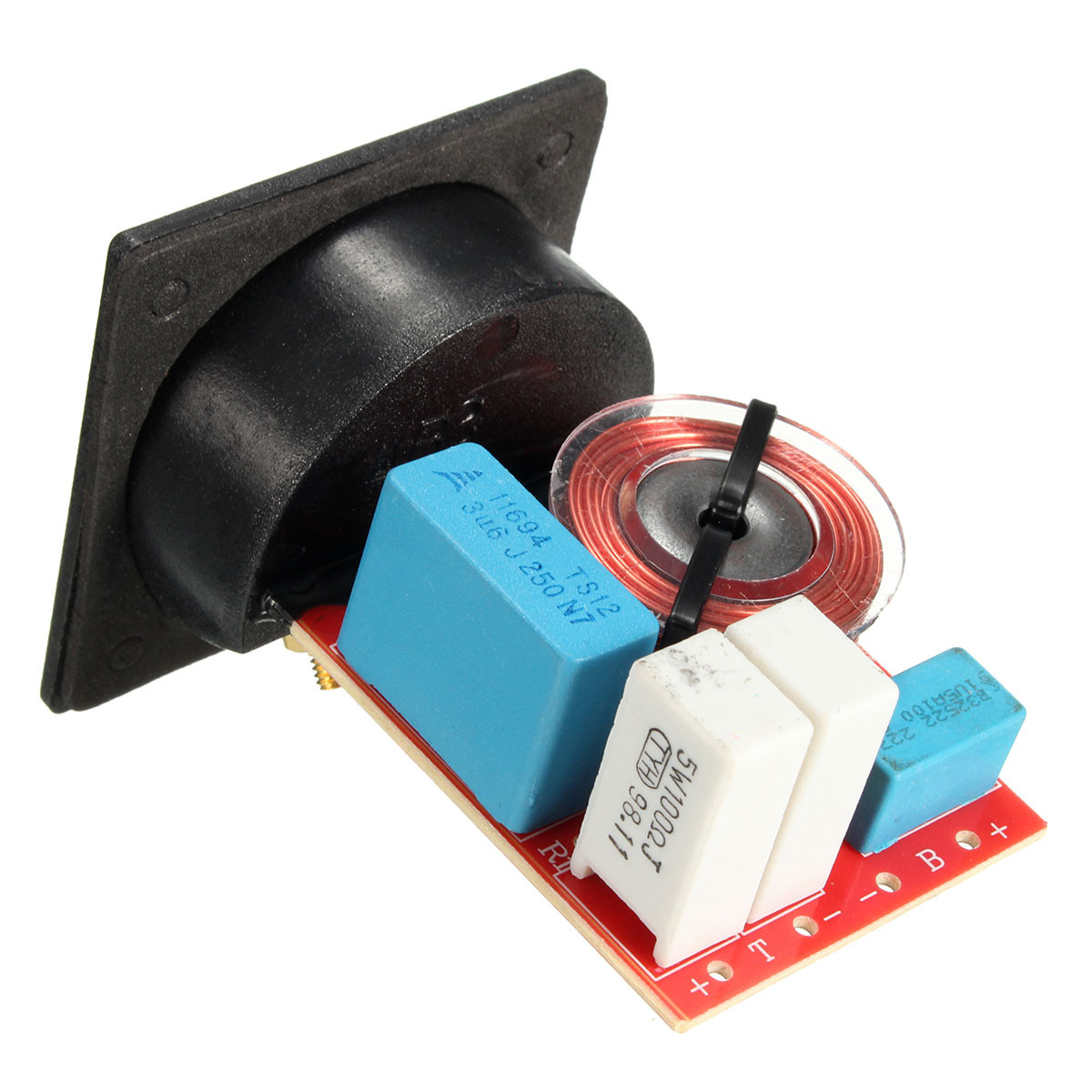 New 2 Way D222 80W Speaker Frequency Divider With Junction Box Stereo Crossover Filters 79 x 55 x 55mm