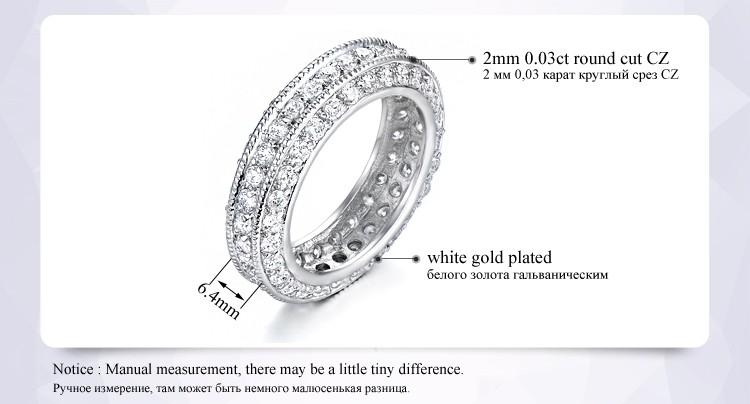 خواتم للنساء مجوهرات الذهب الأبيض 3