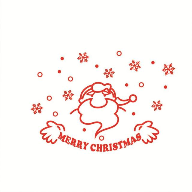 red santa claus window decals sayings merry christams wall sticker