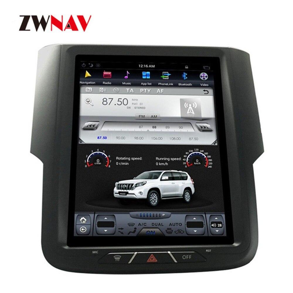 ZWNVA Tesla IPS Écran Android 7.1 Voiture GPS Navigation Radio Pour Dodge RAM 2014 2015 2016 2017 Aucun CD Lecteur GPS Système Audio