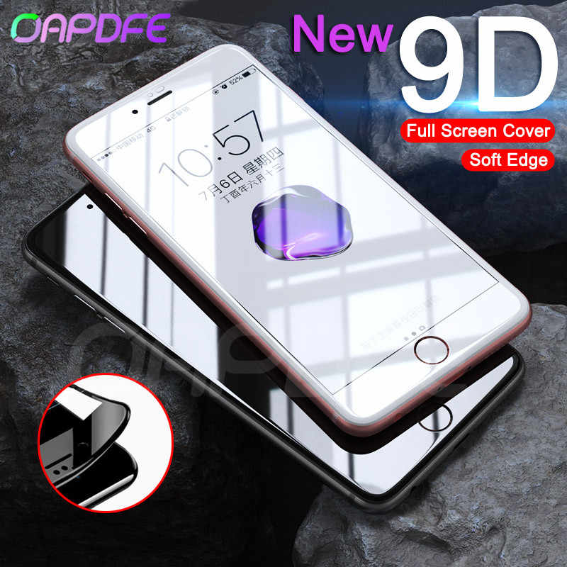 New 9D Soft Edge Full Cover Tempered Glass on For iPhone X XR XS Max Screen Protector For iPhone 8 7 6 6s Plus Protection Film