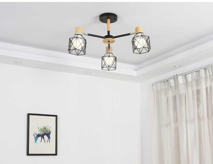 Lustre Vintage Loft Lustre araignée E27 éclairage de salon réglable pour cuisine Restaurant Lustre luminaire lumières LED