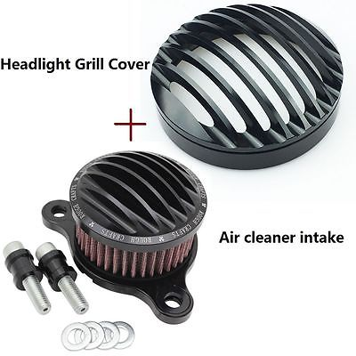 Motorcycle accessories Headlight Grill Cover + Air Cleaner Intake For Harley Sportster 883 1200 04-14 motorcycle accessories engine decorative cover motorbike engine cover for harley davidson 2006 sportster 1200 roadster xl1200r