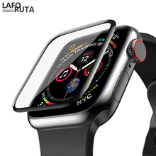Laforuta for Apple Watch Series 4 Tempered Glass Film 3D iWatch 40mm 44mm Screen Protector Cover Explosion-proof Proof Full